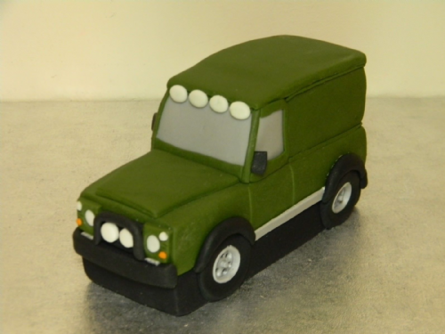 Land Rover Defender Cake Topper